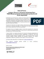 Nota Prensa Fidecom
