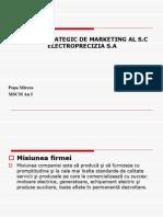 Plan de Marketing Electroprecizia Sa Ppt 2003