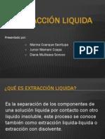Extracción liquida - exposicion