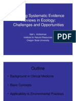 Achterman_Applying Systematic Evidence Reviews in Ecology