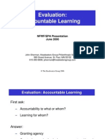 Sherman Evaluation-Accountable Learning