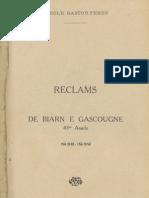 Reclams de Biarn e Gascounhe. - Octoubre-Noubembre 1938 - N°1-2 (43e Anade)