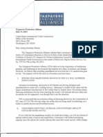 13-06-11 Taxpayers Protection Alliance Submission on Public Interest