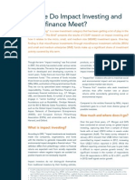Where do Impact Investing and Microfinance Meet?