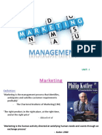 Unit-1 - Marketing Concepts