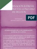 DETERMINACIÓN JUDICIAL DE LA PENA Y EL CONCURSO