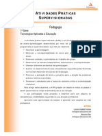 ATPS Tecnologias Aplicadas Educacao