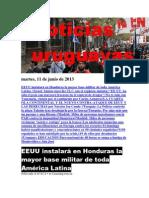 Noticias Uruguayas Martes 11 de Junio Del 2013