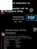 Study of Interiors in Retail ,With Special