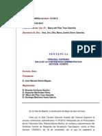 Tribunal Supremo Sentencia Real Decreto 1704 de 2011