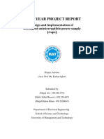 Project FINAL YEAR PROJECT REPORT Design and Implementation of Intelligent uninterruptible power supply (i-ups) Report of I_UPS2013