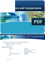 Expressions and Comparisons