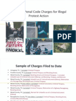 TransCanada Potential Penal Code Charges for Illegal Protest Action Presentation