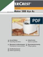 Silvercrest Bread Maker SBB 850 EDS A1