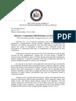 Simotas's Community Full Disclosure Act Passes Senate
