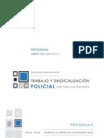 Programa Trabajo+Sindicalización Policial