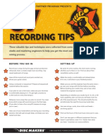 37 Recording Tips