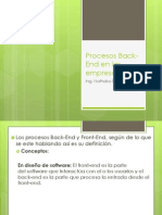 Procesos Back-End en Las Empresas