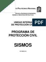 Programa Interno Proteccion Civil Sismos
