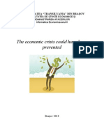 The Economic Crisis Could Be Prevented