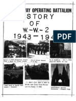 724th Railway Operating Battalion History of WW2  1943-1945
