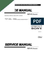 Sony Kdl-40nx710_kdl40nx711 & Kdl-46nx710_kdl46nx711 Ch. Az1-h Lcd Tv Sm