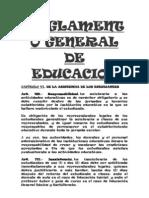 Reglamento General de Educacion