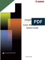 ImagePROGRAF Color Management Systems Guide