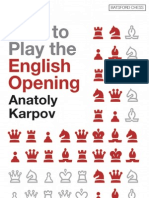 How to Play the English Opening -Karpov, Anatoly