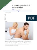 Conoce Los Factores Que Afectan El Deseo Sexual Masculino