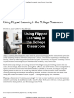 Using Flipped Learning in the College Classroom