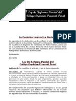 Codigo Organico Procesal (Ley de Reforma Parcial Del 25-07-0