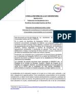 Elementos Para La Reforma de La Ley Universitaria - Aportes de La FEPUC