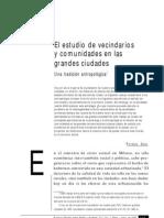 Safa P., El Estudio de Vecindarios y Comunidades en Las Grandes Ciudades