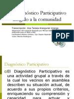 El Diagnóstico Participativo dirigido a la comunidad