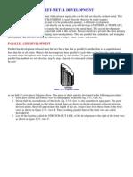 Sheet Metal Duct Layout Book | Sheet Metal | Circle