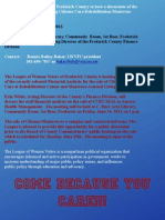 LWV Forum on Citizens/Montevue!