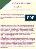A consciência de classe - Gyorgy Lukács