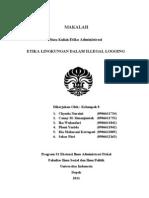 MAKALAH Etika Illegal Logging