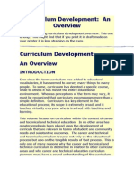 Curriculum Development - Notes