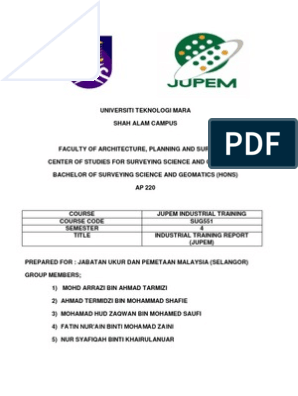 Jupem S Report Surveying Geographic Information System