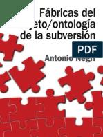 Negri - Ontologia Del Sujeto