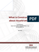 Constructive Acceleration in Construction Projects