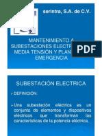 Conferencia 3c-Mantenimiento a Subestaciones Electricas en Media Tension y Plantas de Emergencia-SERINTR