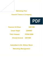 Marketing Plan Karachi Tobacco Company