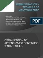 ADMINISTRACION Y TECNICAS DE MANTENIMIENTO .. 3ERA.pptx