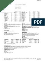 Box Score (6-11)