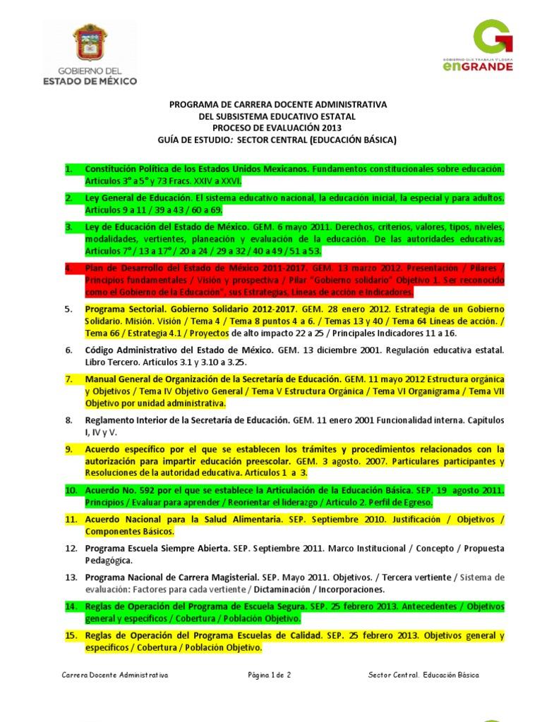 Guia de Estudios Carrera Docente