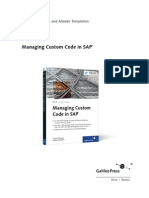 Sappress Managing Custom Code in Sap