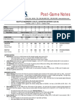 06.11.13 Post-Game Notes